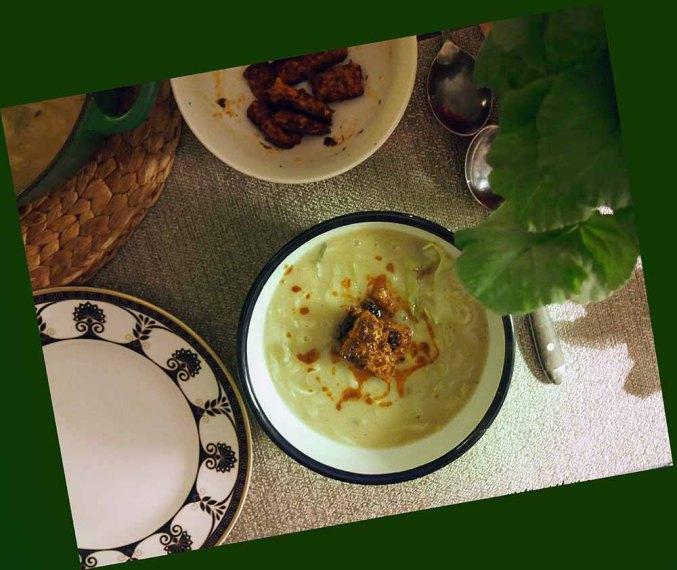 caldo verde + fried tempeh
