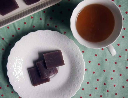 yokan and green tea