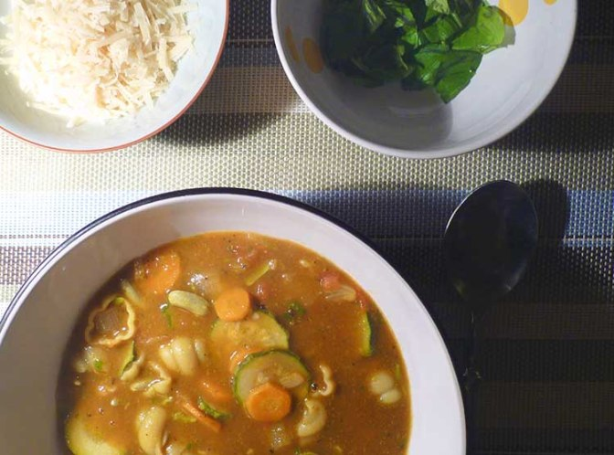 Italian Summer Vegetable and Flageolet Broth